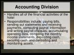 accounting division
