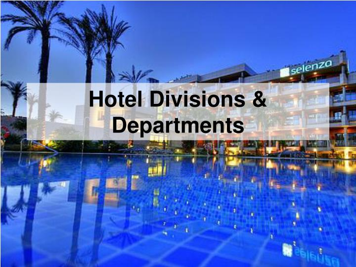 hotel divisions departments n.