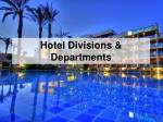 hotel divisions departments