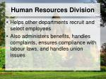 human resources division