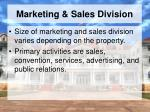 marketing sales division