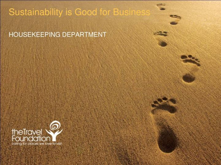 sustainability is good for business n.