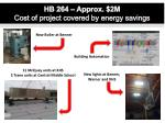 hb 264 approx 2m cost of project covered by energy savings
