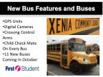 new bus features and buses