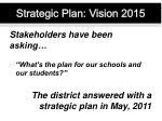 strategic plan vision 2015