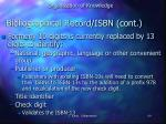 bibliographical record isbn cont
