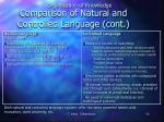 comparison of natural and controlled language cont