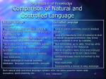 comparison of natural and controlled language