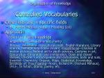 controlled vocabularies1