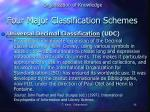 four major classification schemes2