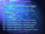 marc display sample tags2