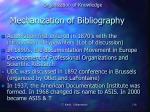 mechanization of bibliography