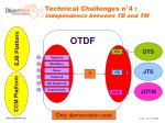 technical challenges n 4 independence between td and tm
