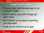 powertool must