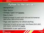 python to the rescue