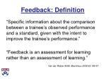 feedback definition