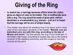 giving of the ring