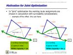 motivation for joint optimization