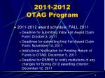 2011 2012 otag program1