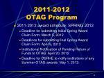 2011 2012 otag program2