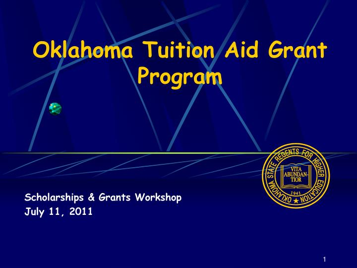 oklahoma tuition aid grant program n.