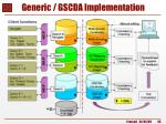 generic gscda implementation