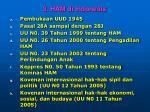 3 ham di indonesia