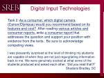digital input technologies