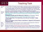 teaching task