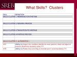 what skills clusters