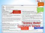 science model curriculum sample