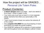 how the project will be graded personal life totem poles