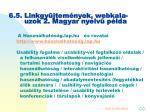 6 5 linkgy jtem nyek webkala uzok 2 magyar nyelv p lda
