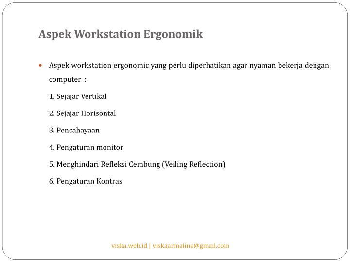 Aspek Workstation Ergonomik