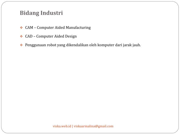 Bidang Industri