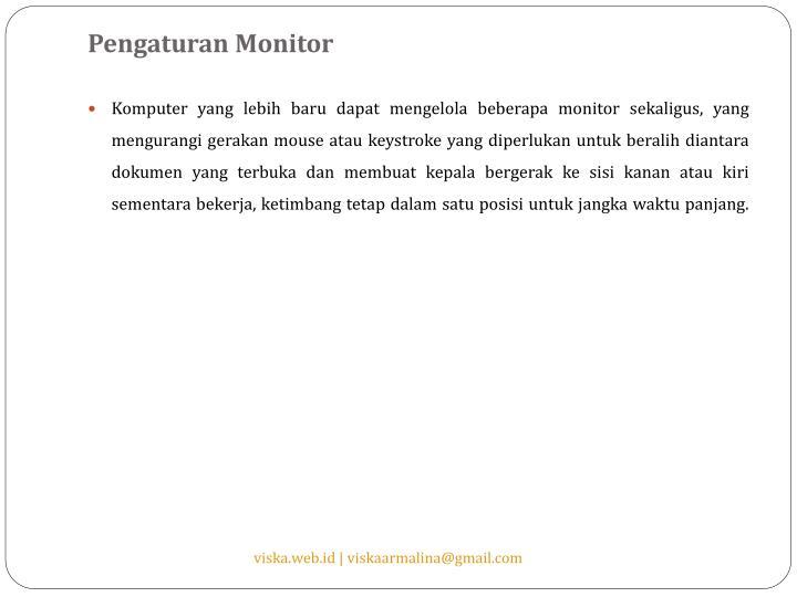 Pengaturan Monitor