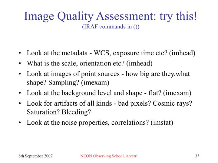 Image Quality Assessment: try this!