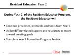 resident educator year 2