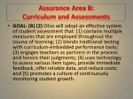 assurance area b curriculum and assessments1