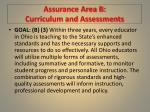 assurance area b curriculum and assessments2