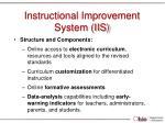 instructional improvement system iis