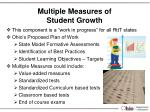 multiple measures of student growth