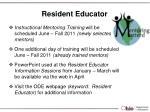 resident educator