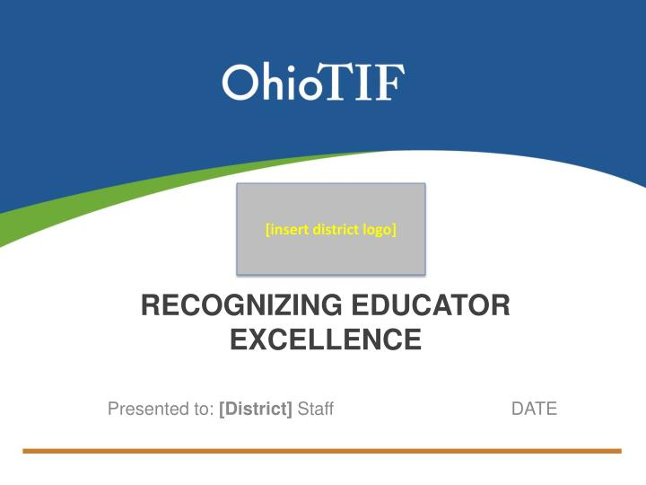 recognizing educator excellence