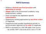rats summary