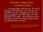 clement of alexandria a preterist view
