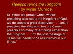 rediscovering the kingdom by myles munroe7