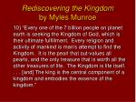 rediscovering the kingdom by myles munroe9