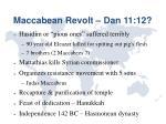 maccabean revolt dan 11 12
