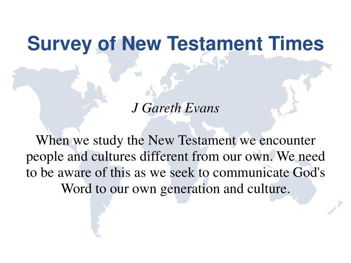 survey of new testament times n.